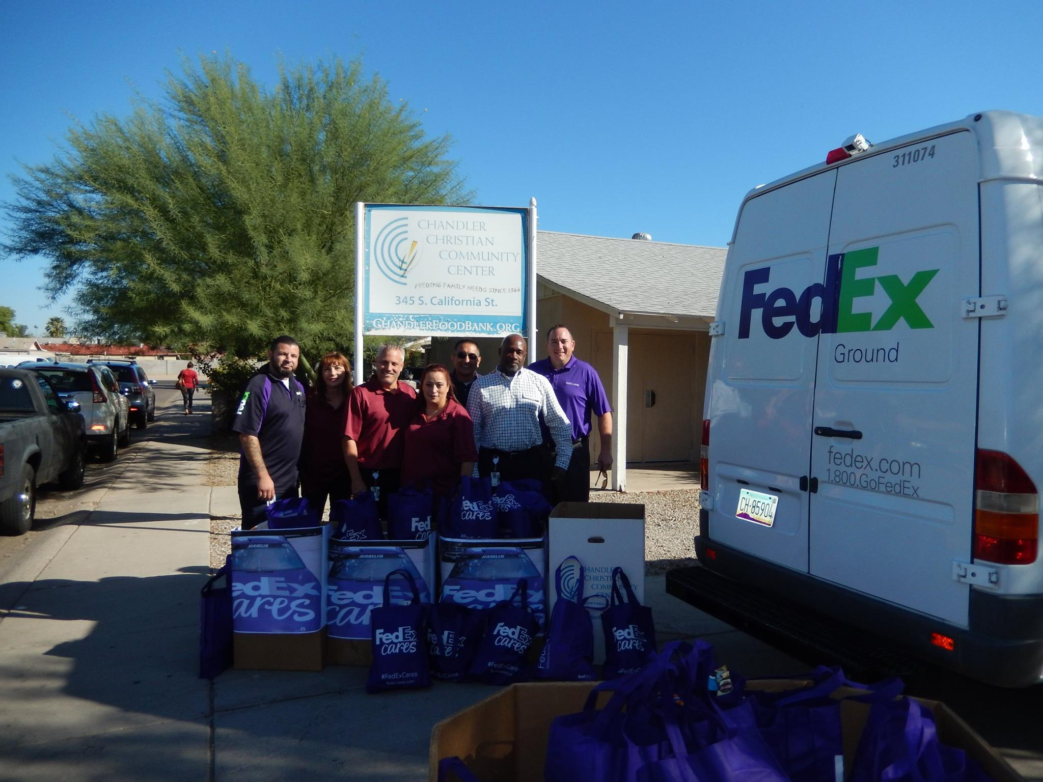 FED EX Chandler Donation Tops Locations Statewide